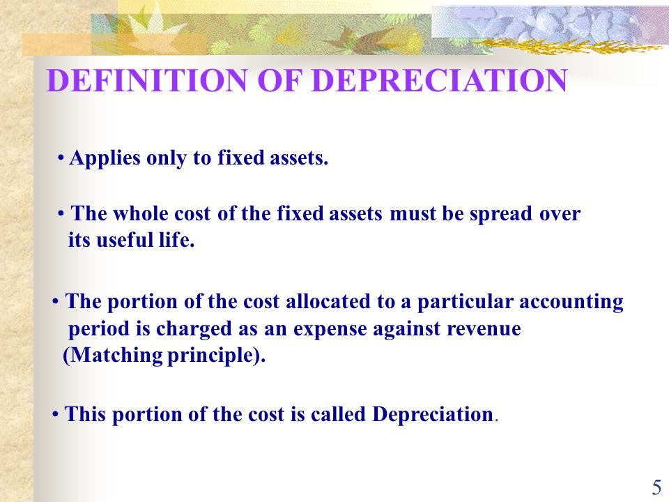 DEFINITION OF DEPRECIATION