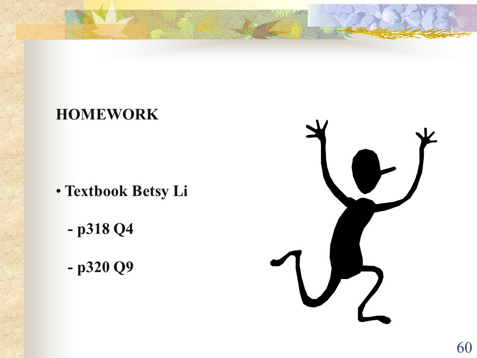 HOMEWORK Textbook Betsy Li - p318 Q4 - p320 Q9