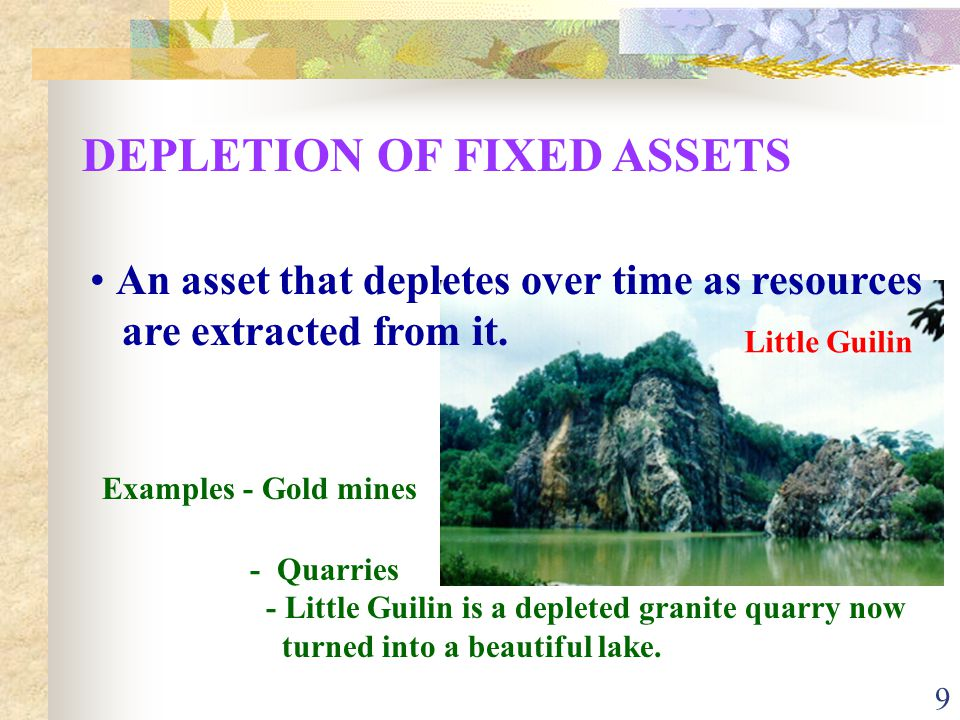 DEPLETION OF FIXED ASSETS
