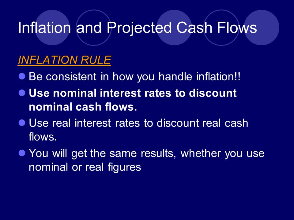 Inflation and Projected Cash Flows