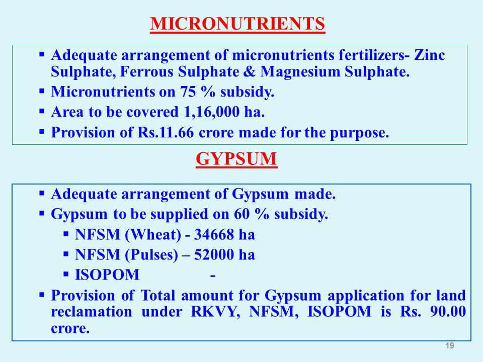MICRONUTRIENTS GYPSUM