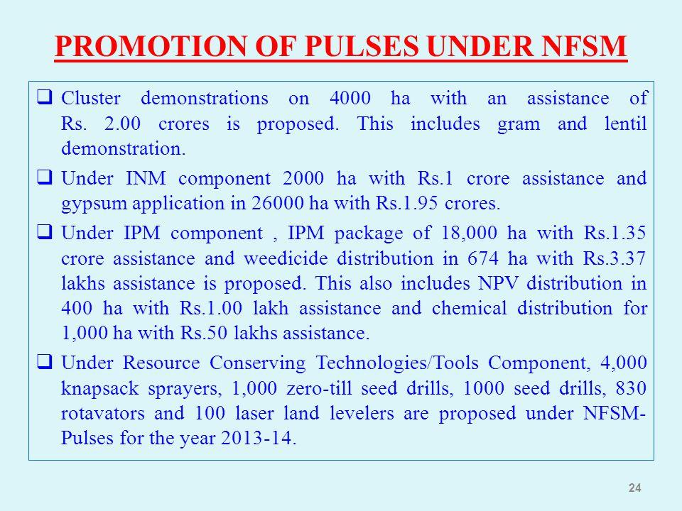 PROMOTION OF PULSES UNDER NFSM
