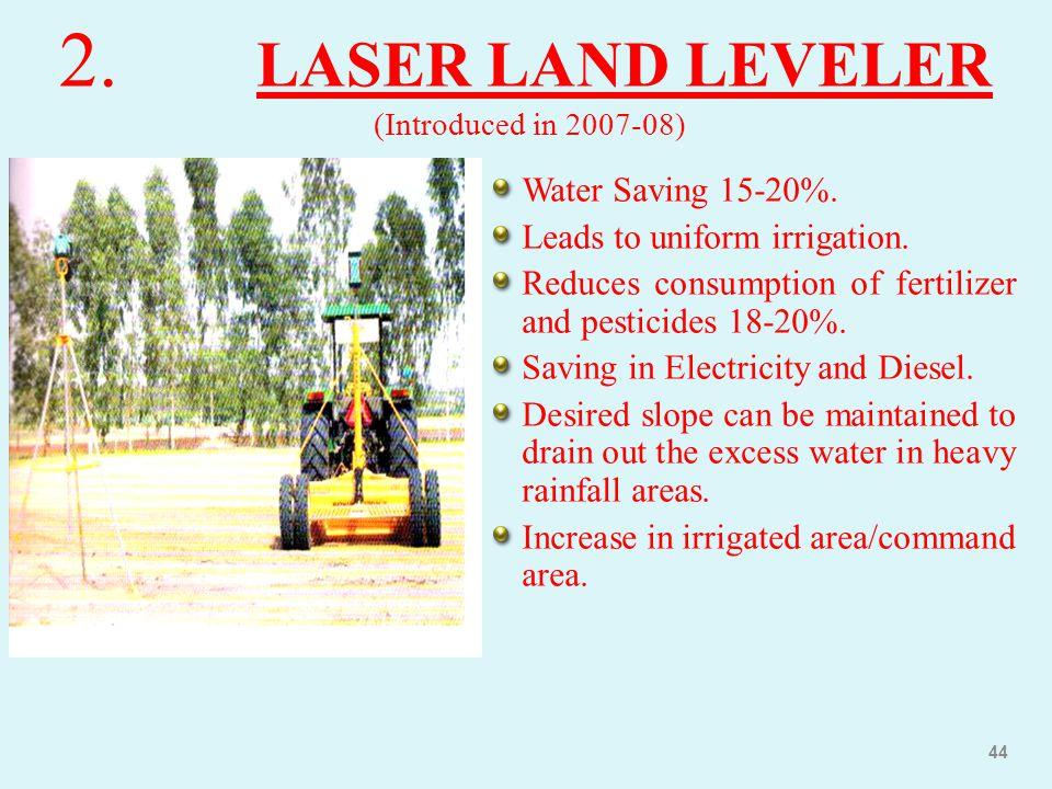 2. LASER LAND LEVELER (Introduced in 2007-08)