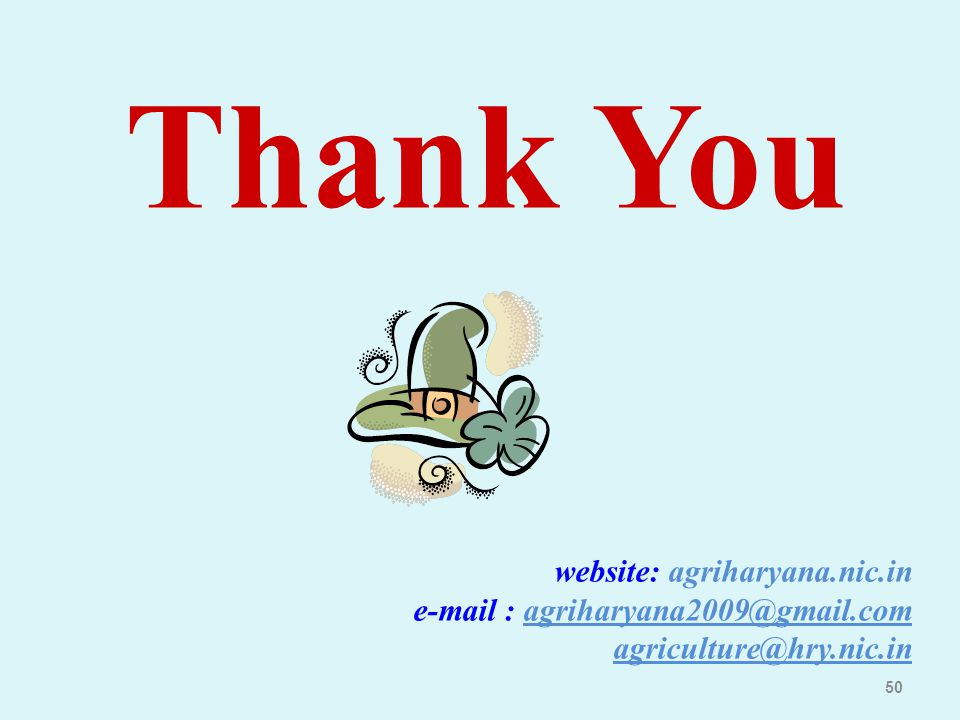 Thank You website: agriharyana.nic.in