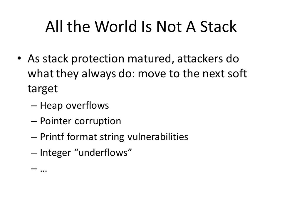 All the World Is Not A Stack