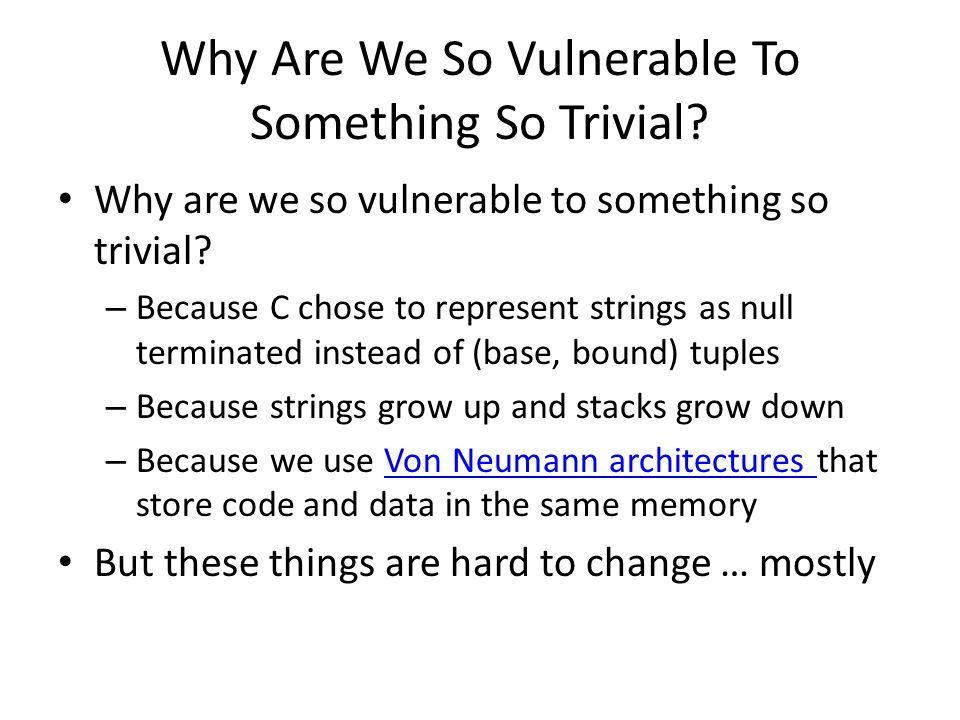 Why Are We So Vulnerable To Something So Trivial