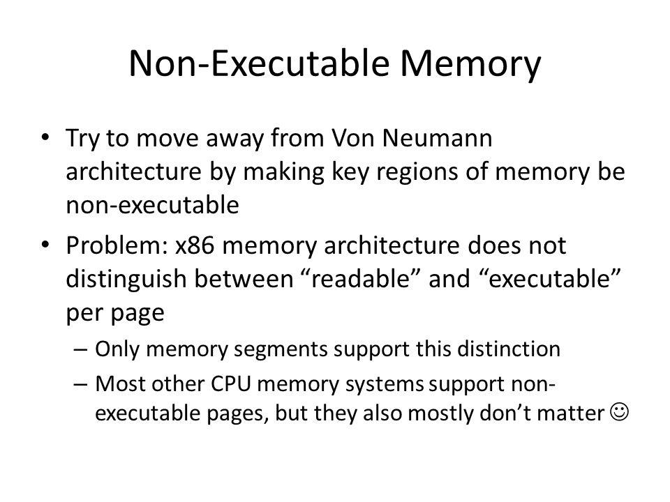 Non-Executable Memory