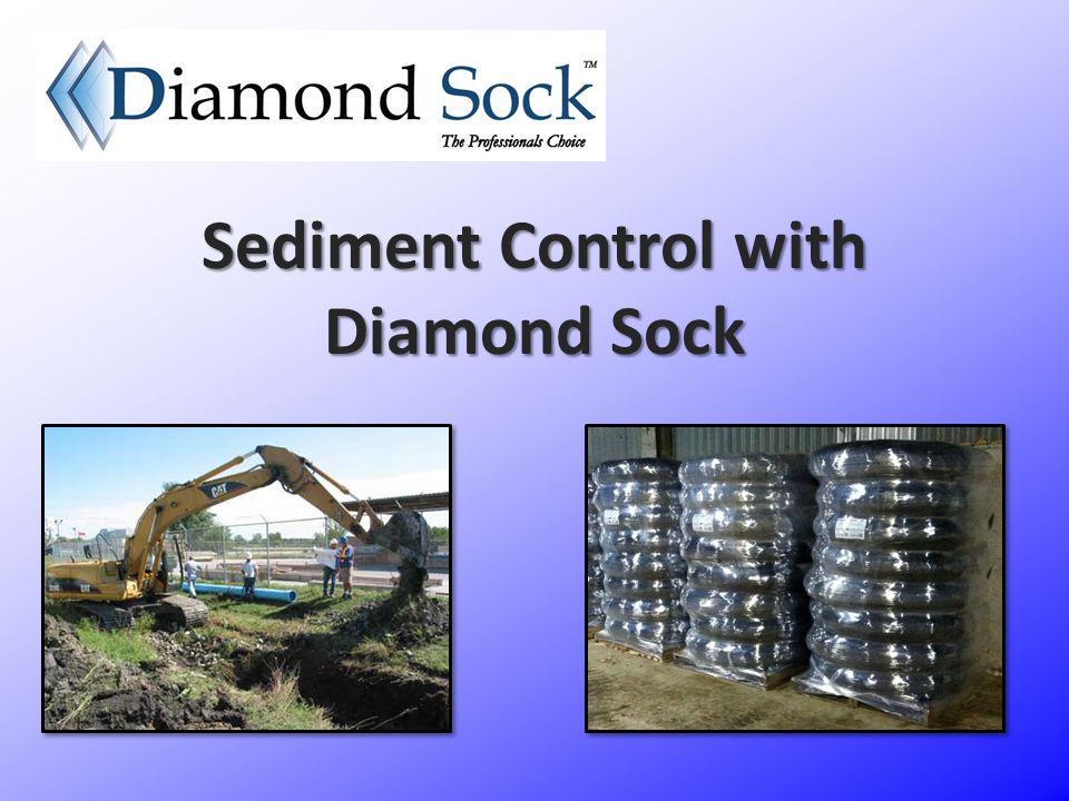 Sediment Control with Diamond Sock
