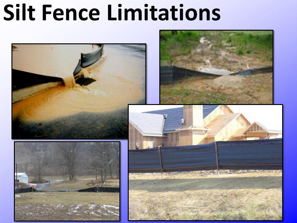 Silt Fence Limitations