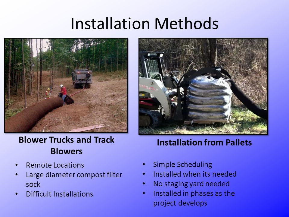 Blower Trucks and Track Blowers Installation from Pallets