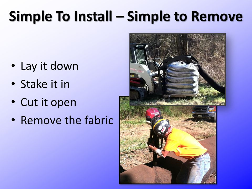 Simple To Install – Simple to Remove