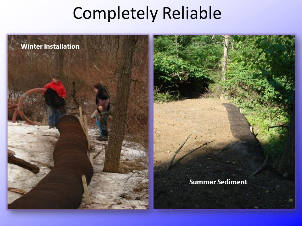 Completely Reliable Winter Installation Summer Sediment
