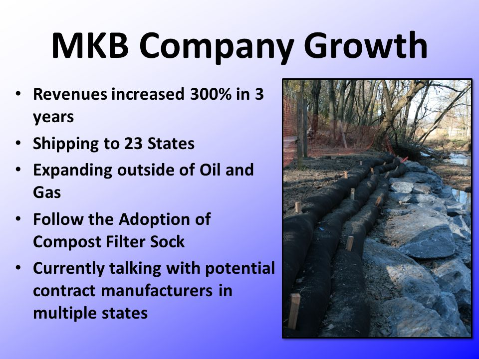 MKB Company Growth Revenues increased 300% in 3 years