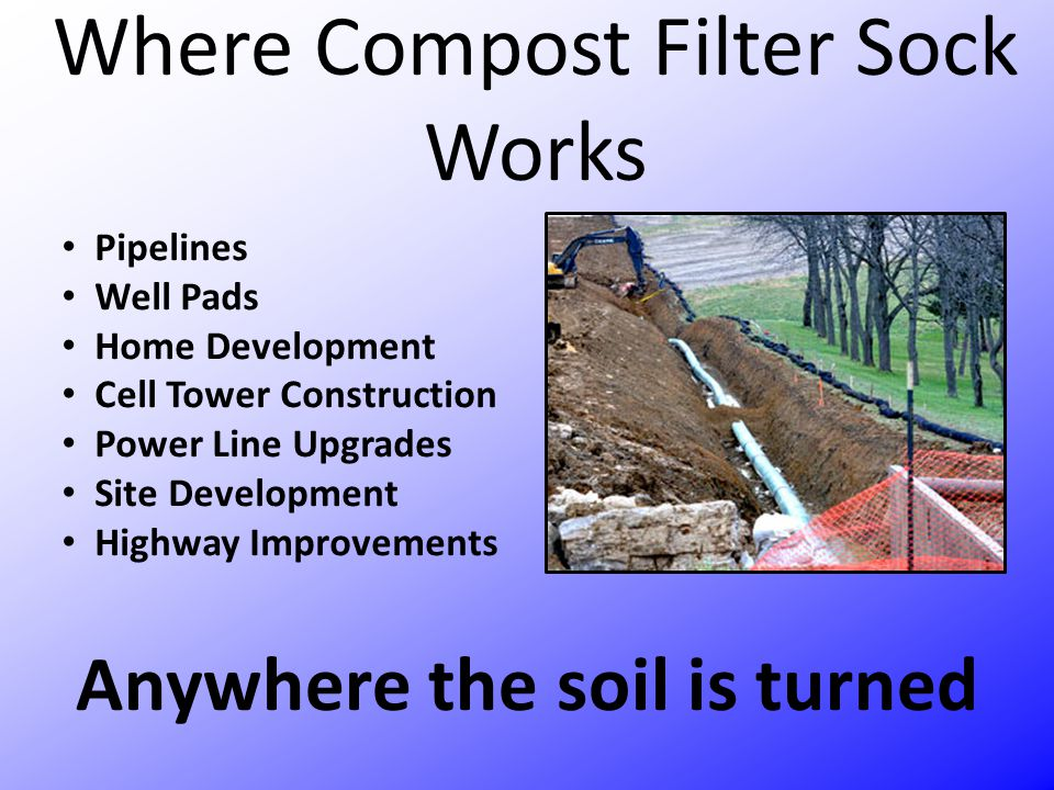 Where Compost Filter Sock Works