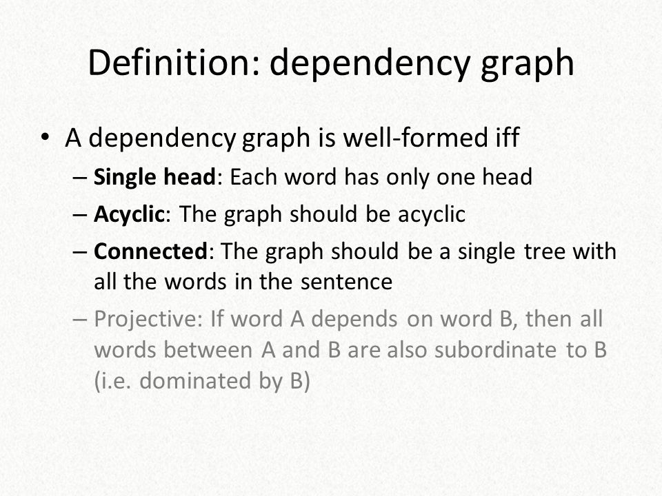 Definition: dependency graph