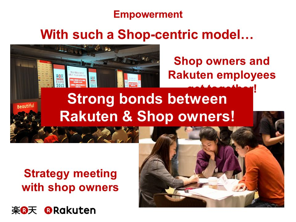 Strong bonds between Rakuten & Shop owners!