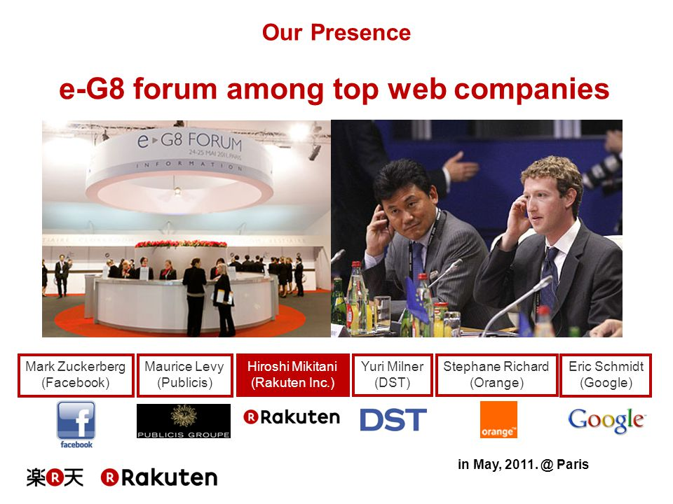 e-G8 forum among top web companies