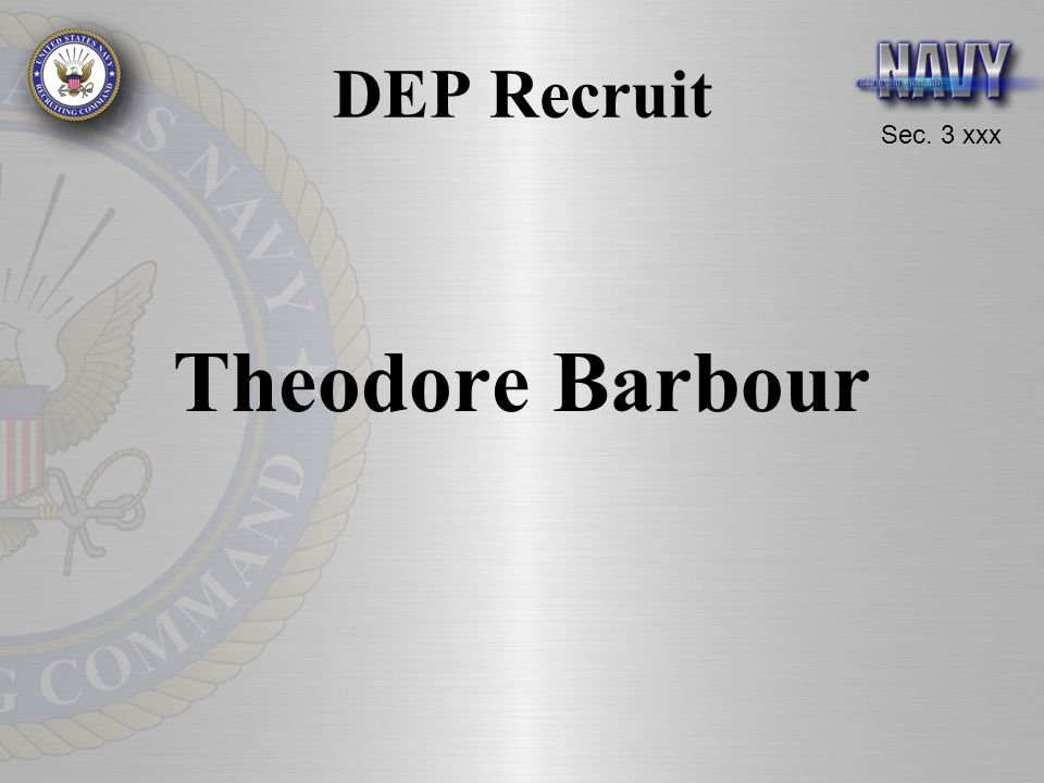 DEP Recruit Theodore Barbour