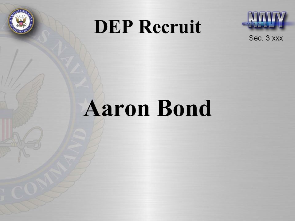 DEP Recruit Aaron Bond