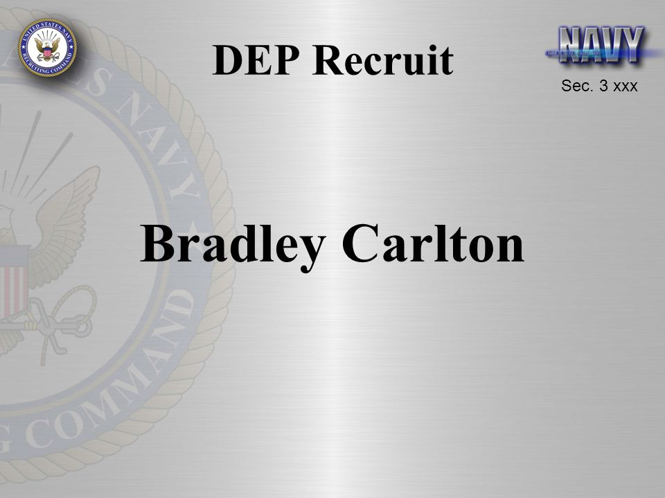 DEP Recruit Bradley Carlton