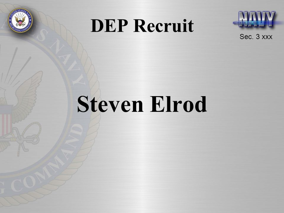 DEP Recruit Steven Elrod
