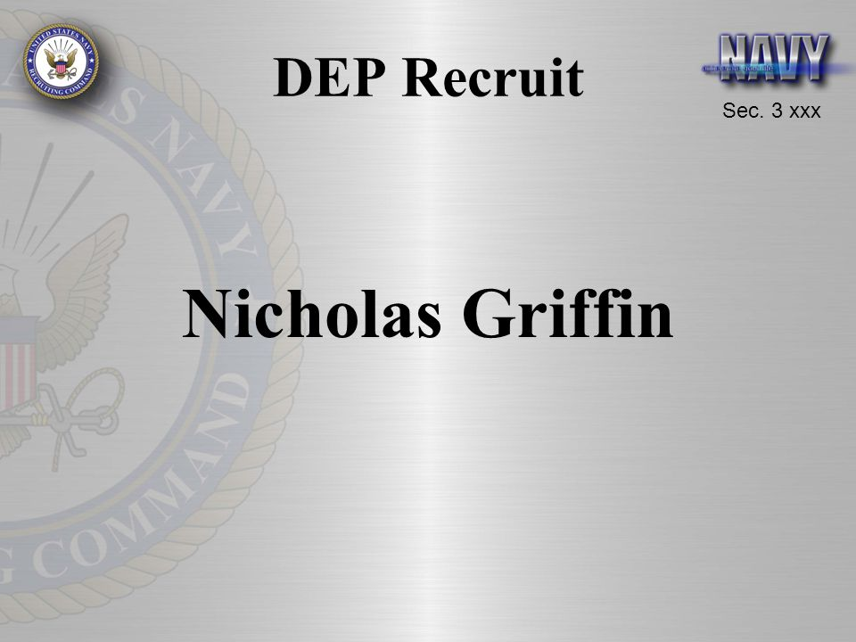 DEP Recruit Nicholas Griffin