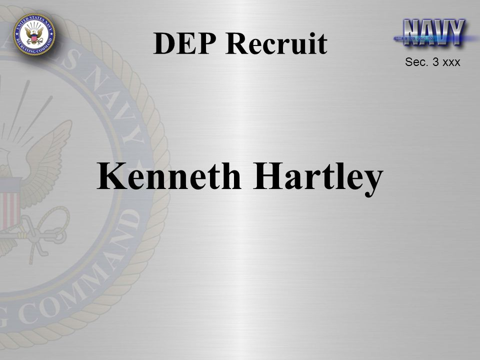 DEP Recruit Kenneth Hartley