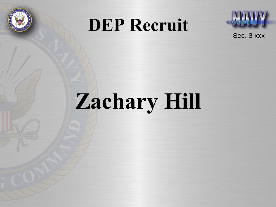 DEP Recruit Zachary Hill