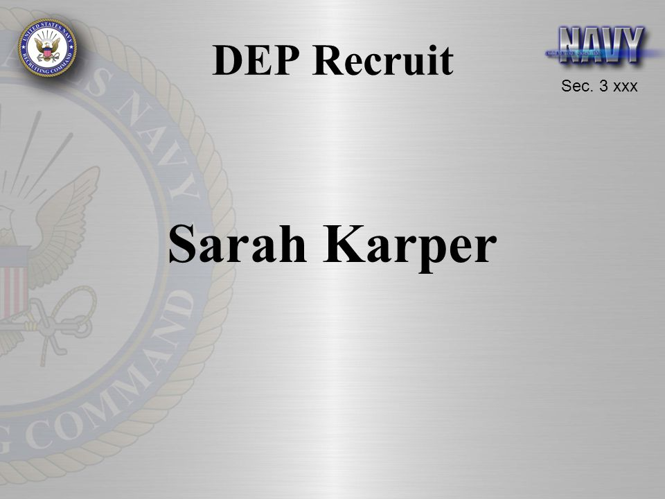 DEP Recruit Sarah Karper