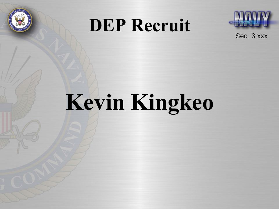 DEP Recruit Kevin Kingkeo