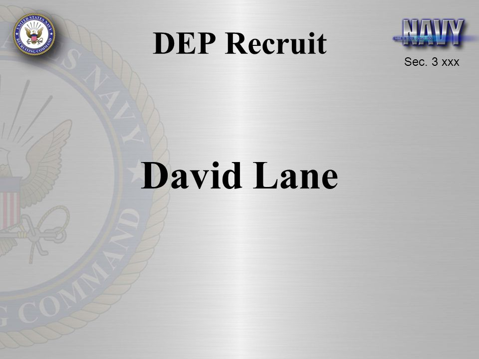 DEP Recruit David Lane