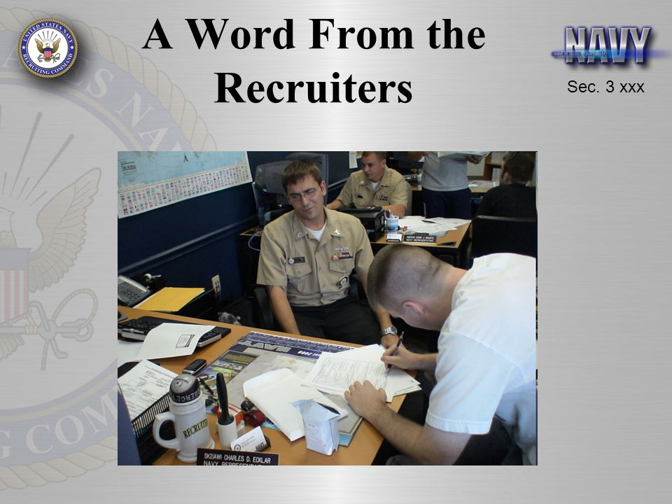 A Word From the Recruiters