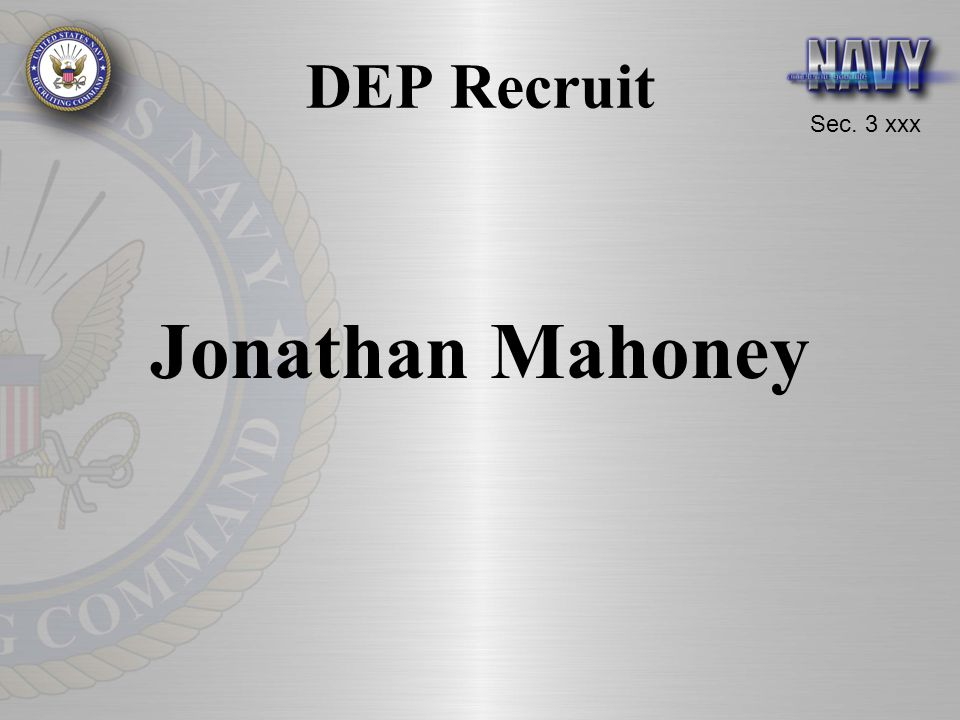 DEP Recruit Jonathan Mahoney