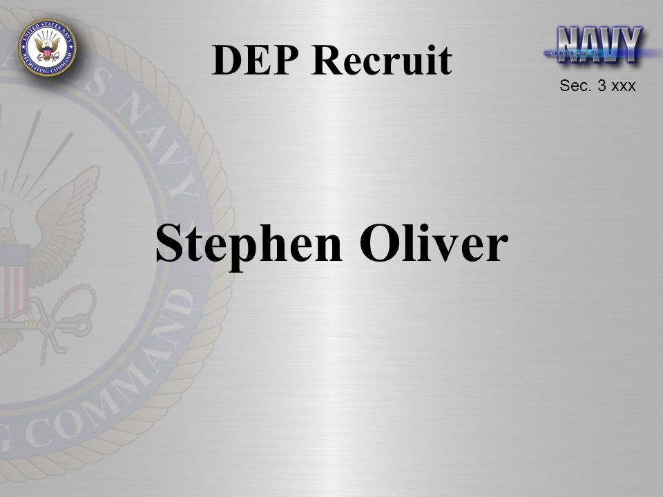 DEP Recruit Stephen Oliver