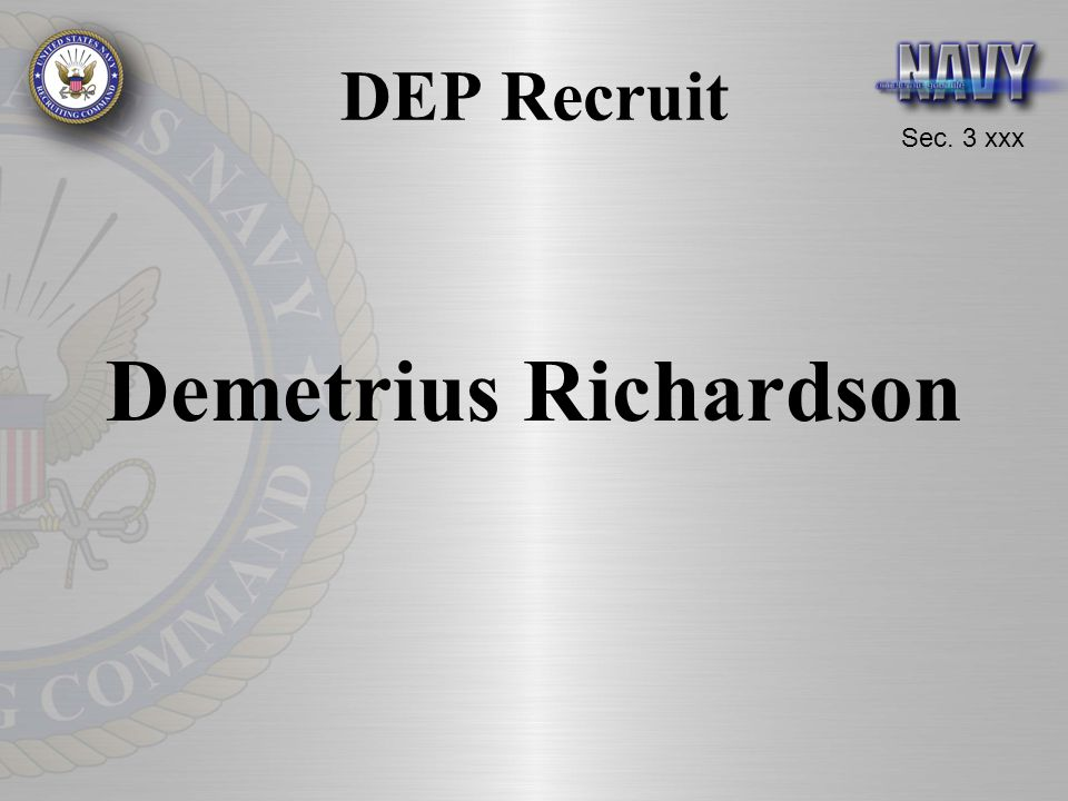 DEP Recruit Demetrius Richardson
