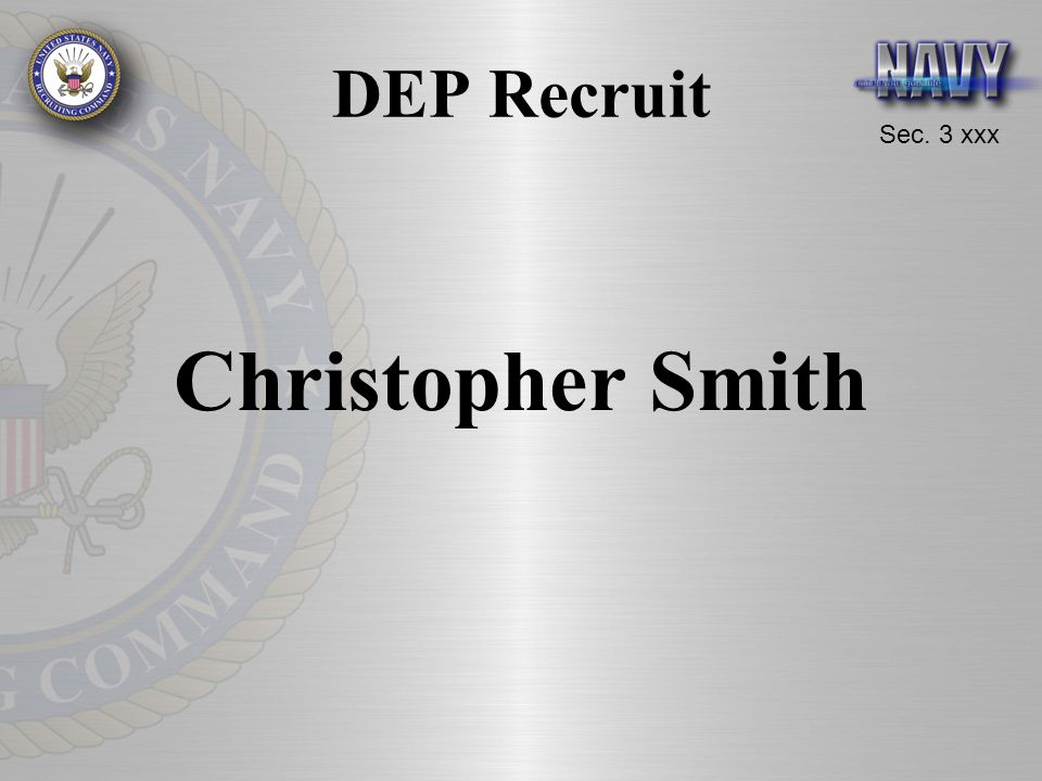 DEP Recruit Christopher Smith
