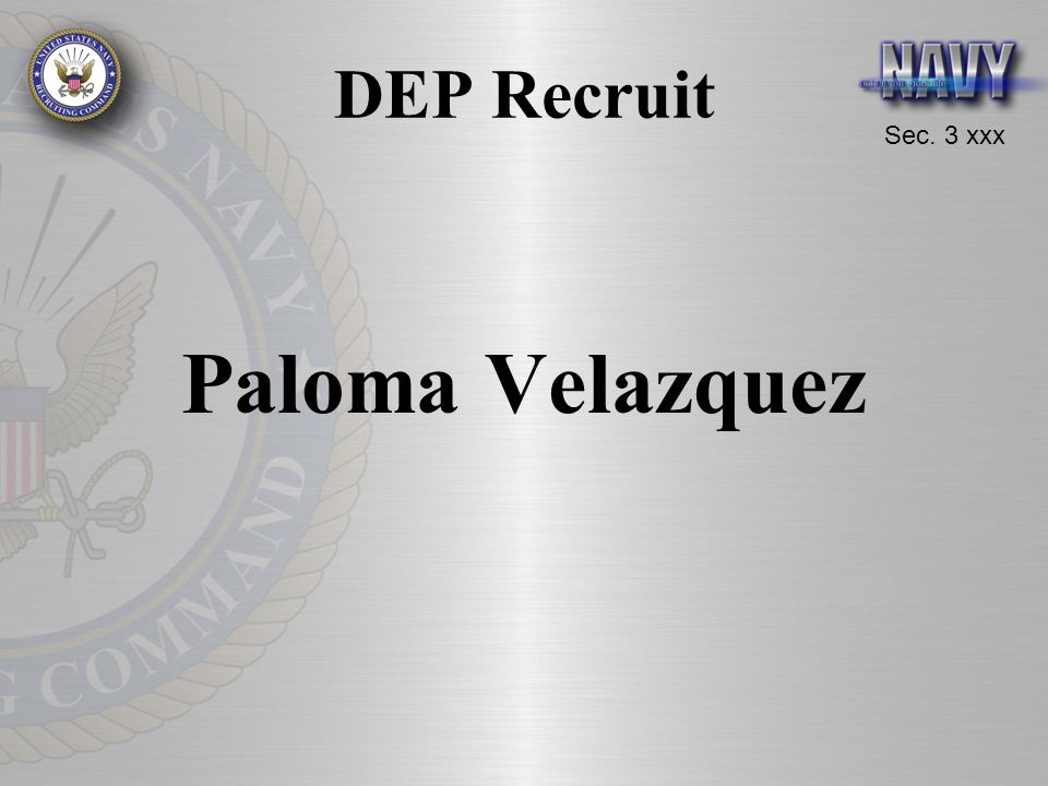 DEP Recruit Paloma Velazquez