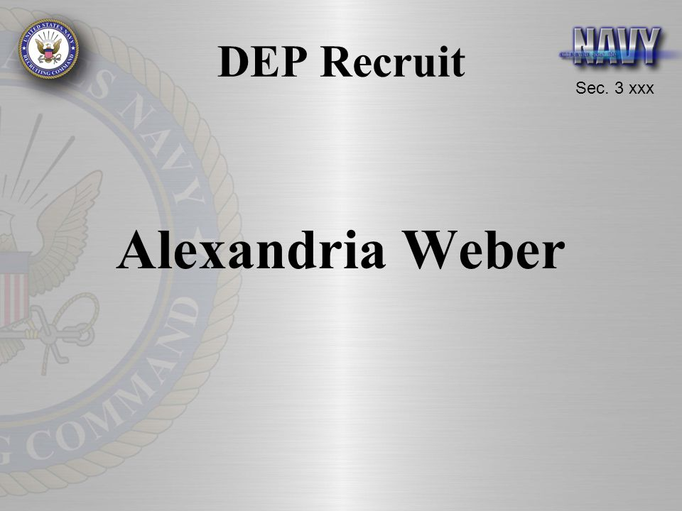 DEP Recruit Alexandria Weber