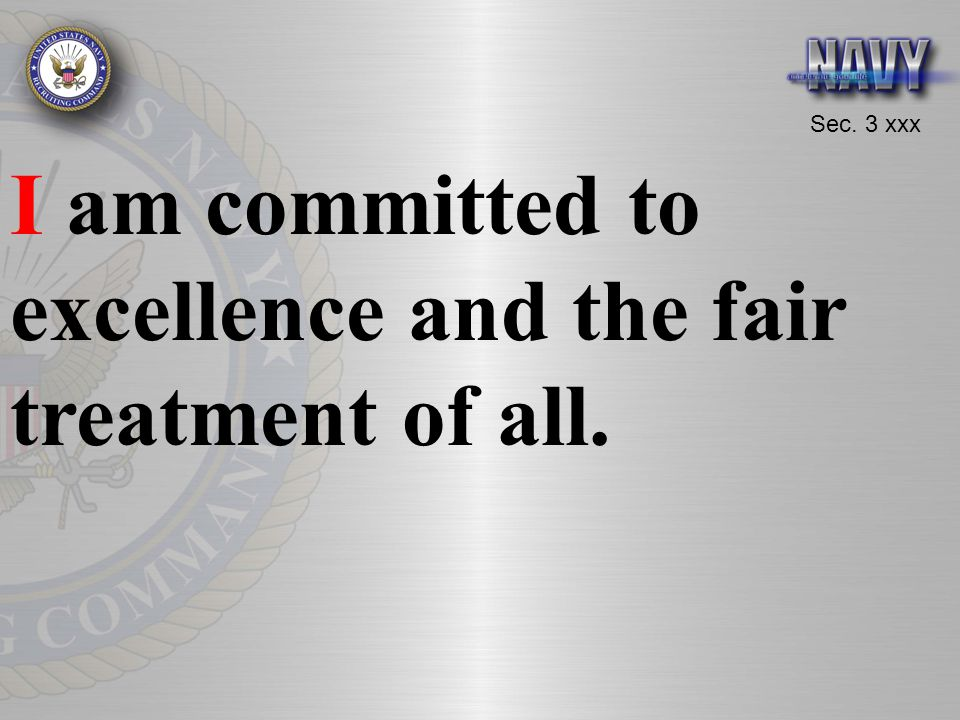 I am committed to excellence and the fair treatment of all.