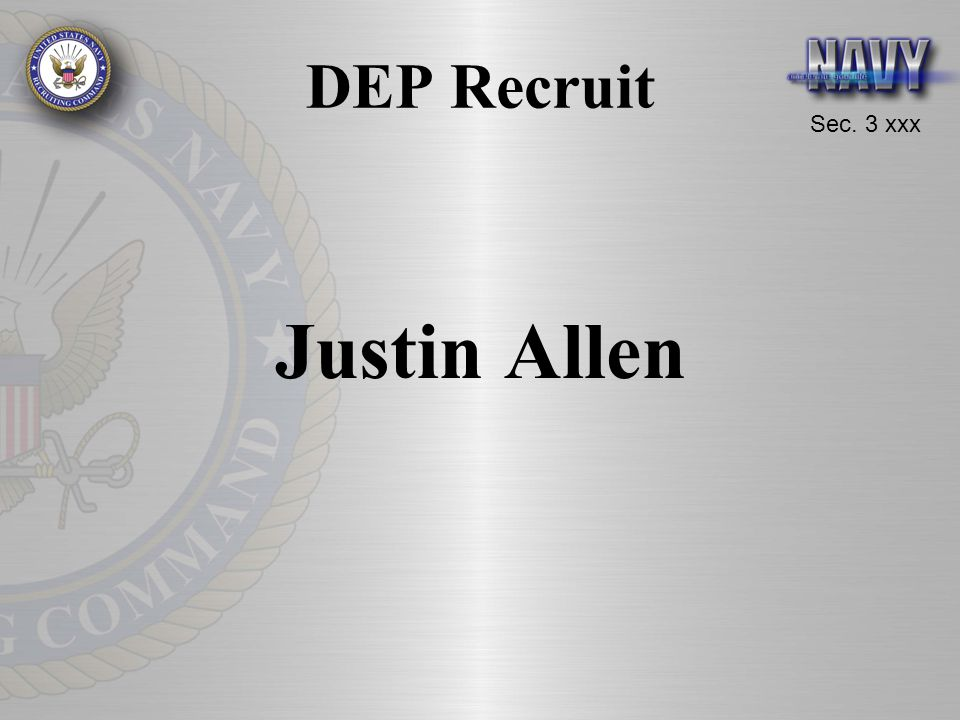 DEP Recruit Justin Allen