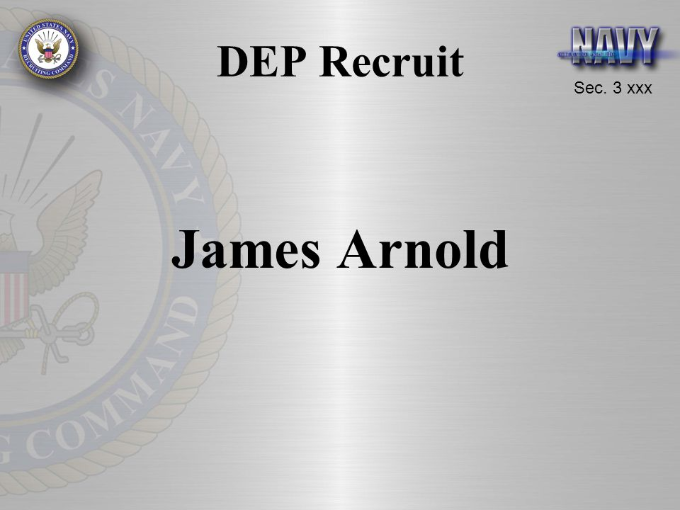 DEP Recruit James Arnold