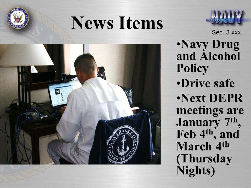 News Items Navy Drug and Alcohol Policy Drive safe