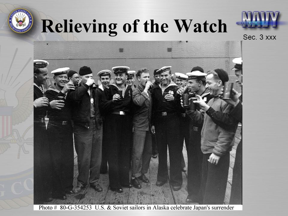 Relieving of the Watch