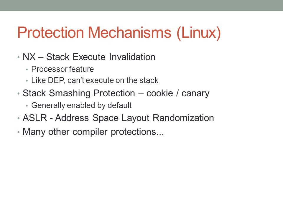 Protection Mechanisms (Linux)