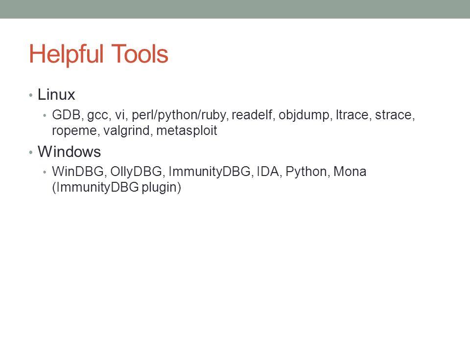 Helpful Tools Linux Windows