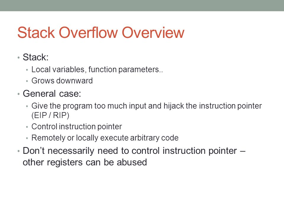 Stack Overflow Overview