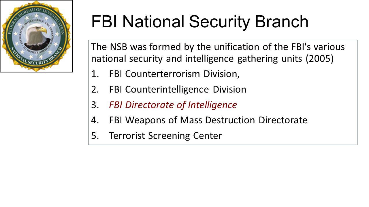 FBI National Security Branch