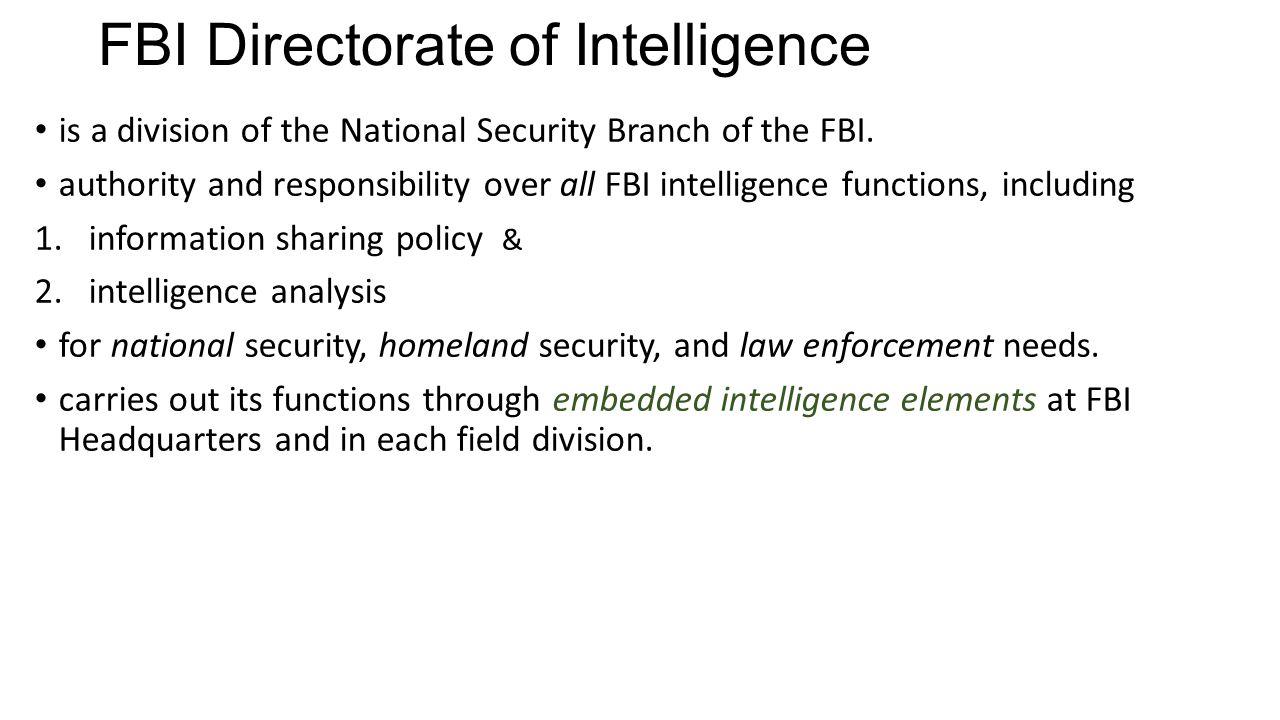 FBI Directorate of Intelligence
