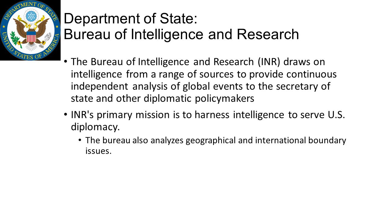 Department of State: Bureau of Intelligence and Research