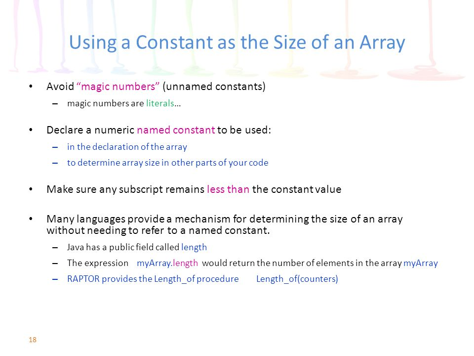 Using a Constant as the Size of an Array